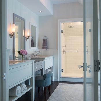 Long Bathroom Design, Transitional, Bathroom, Hirshson Design Group