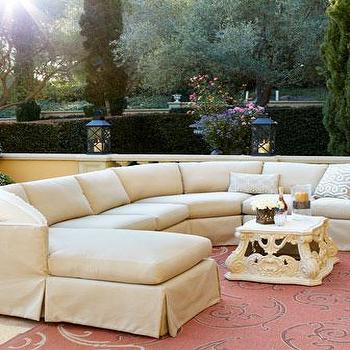 Outdoor Upholstered Sectional I Horchow