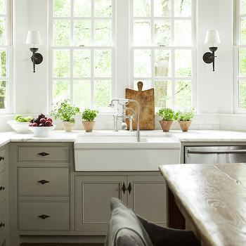 Kitchen with Bay Window, Transitional, Kitchen, Westbrook Interiors