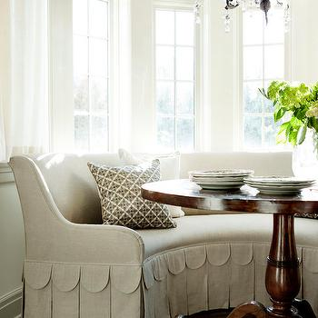 Bay Window Breakfast Nook, Transitional, Dining Room, Westbrook Interiors