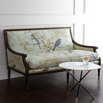 Massoud Bird Vines Settee I Horchow