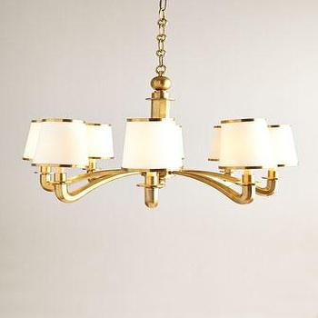Visual Comfort Brass Arm Chandelier I Horchow