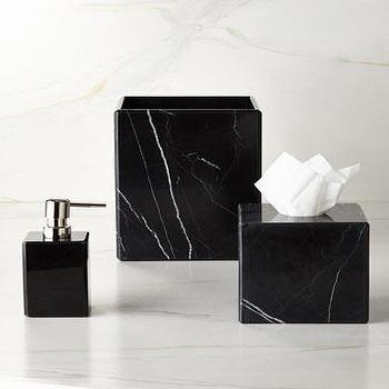 Waterworks Studio Luna Black Marble Vanity Accessories I Horchow