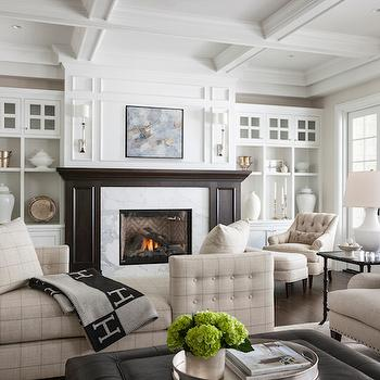 Fireplace with Built Ins, Traditional, Living Room, Marianne Simon Design