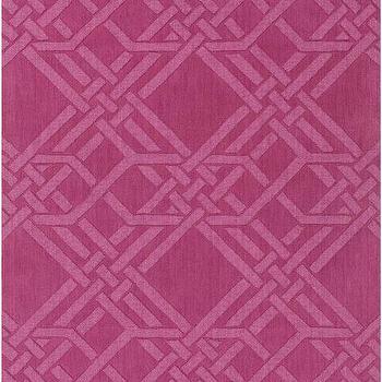 The Oakes Magenta Rug design by Florence Broadhurst I Burke Decor