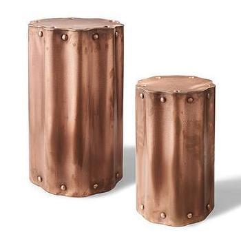 Scallop Copper Table I Grandin Road