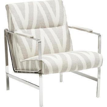Ziggy Chair, Silvis Shimmer Precedent I High Fashion Home