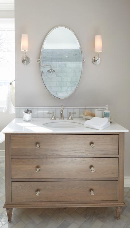 dresser bathroom vanity transitional bathroom hendel homes. Black Bedroom Furniture Sets. Home Design Ideas