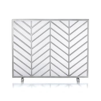 Chevron Fireplace Screen I Crate and Barrel