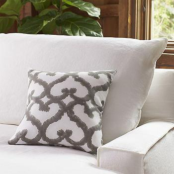 Tiger Trellis Printed Pillow I Crate and Barrel