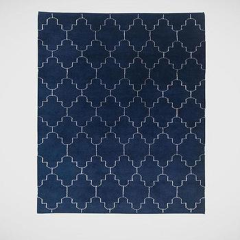 Tulu Tracery Rug, Blue/Natural I Ethan Allen
