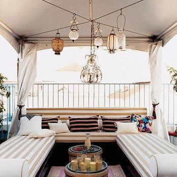 Tented Gazebo Ideas, Transitional, Deck/patio, Domino Magazine