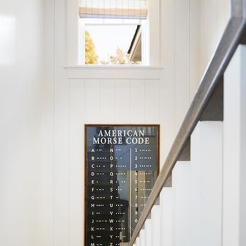 More Code Art, Cottage, Entrance/foyer, Kelly Nutt Design