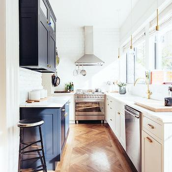 White and Navy Kitchens, Contemporary, Kitchen, One Fine Stay