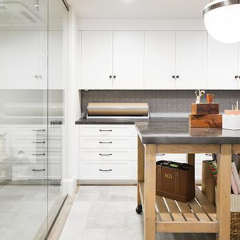 Craft Room Island, Cottage, Den/library/office, Kelly Nutt Design