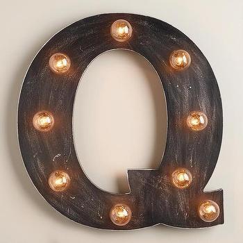 'Q' Marquee Light, World Market