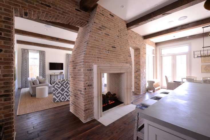 Multi sided fireplace transitional kitchen munger 2 sided fireplace ideas