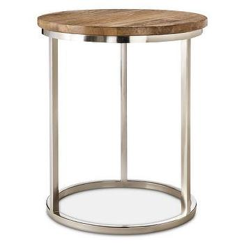 Threshold Metal Accent Table with Wood Top I Target