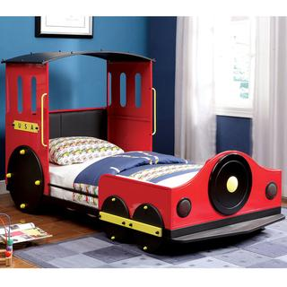 Furniture of America Red Train Locomotive Metal Youth Bed, Overstock.com