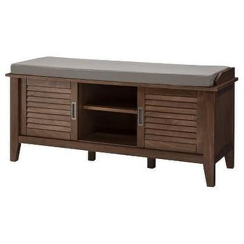 Threshold Storage Bench with Slatted Doors I Target