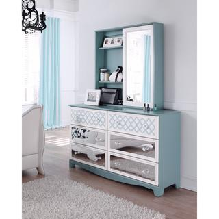 Signature Design by Ashley Mivara Light Blue 6-Drawer Dresser and Mirror Set, Overstock.com