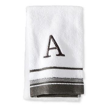 Threshold Monogramed Hand Towels I Target