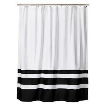 Threshold Color Block Shower Curtain, Black/White I Target