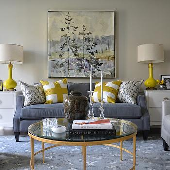 Yellow and Blue Rooms, Transitional, Living Room, Meredith Heron Design