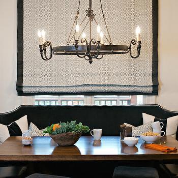 Black Dining Bench, Transitional, Dining Room, Dana Wolter Interiors