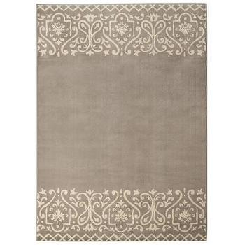 Threshold Scroll Border Area Rug, Gray I Target