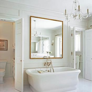 Mirror Above Bathtub, Transitional, Bathroom, Cynthia Carlson Associates