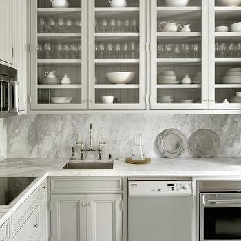 Kitchen with Glass Front Cabinets, Transitional, Kitchen, Cynthia Carlson Associates