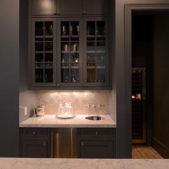 Black Kitchen Ideas, Transitional, Kitchen, Munger Interiors