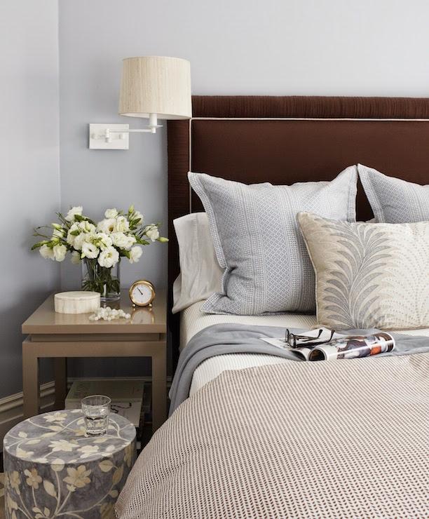 Blue And Brown Bedroom Design