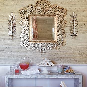 Marble Buffet Table, Transitional, Dining Room, Massucco Warner Miller