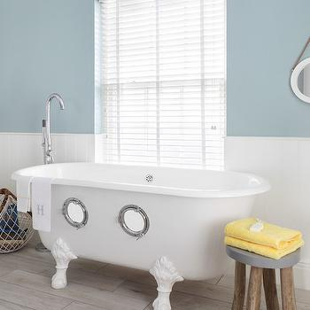Nautical Kids Bathrooms, Cottage, Bathroom, Zoffany Paint Dufour, Oliver Burns