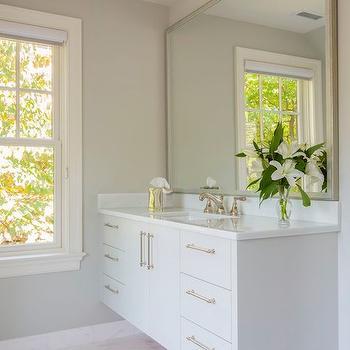 Floating Washstand Ideas, Transitional, Bathroom, Sroka Design