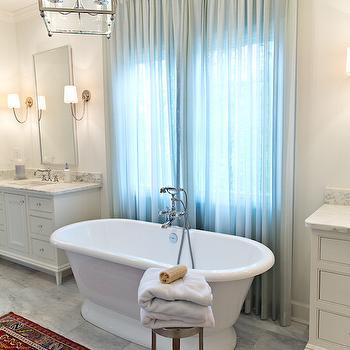 Bathtub Between Vanities, Transitional, Bathroom, Dana Wolter Interiors