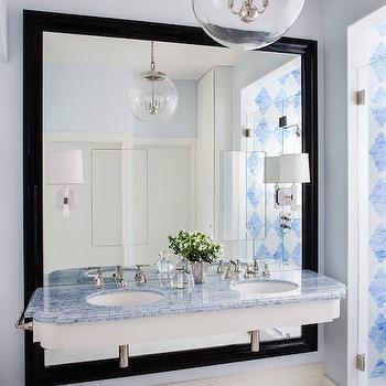 Blue Marble Countertops, Contemporary, Bathroom, Palmer Weiss