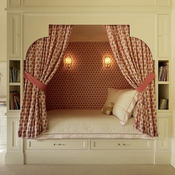 Kids Bed Alcove Ideas, Transitional, Girl's Room, Palmer Weiss