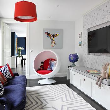 Kids TV Room Ideas, Contemporary, Den/library/office, Oliver Burns