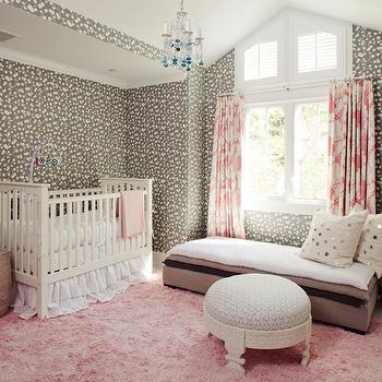 Pink and Gray Nursery Ideas, Transitional, Nursery, Windsor Smith Home
