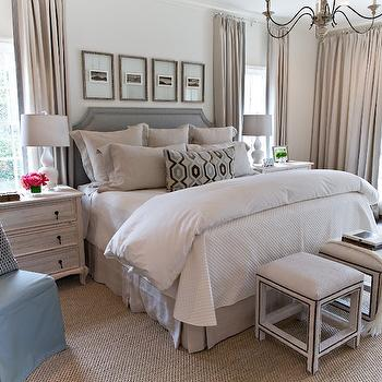 Photo Wall Over Bed, Transitional, Bedroom, Dana Wolter Interiors