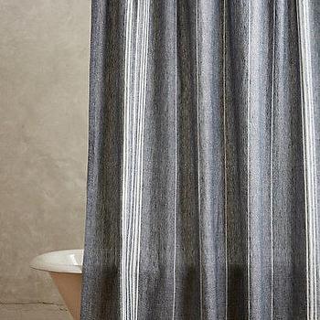 Striped Linen Shower Curtain I Anthropologie