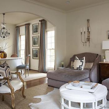 Pull Apart Ottoman, Transitional, Living Room, Dana Wolter Interiors