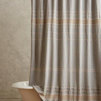 Scallop Striped Shower Curtain I Anthropologie