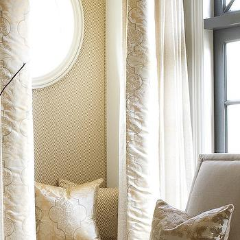 Reading Nook with Curtains, Transitional, Living Room, Dana Wolter Interiors