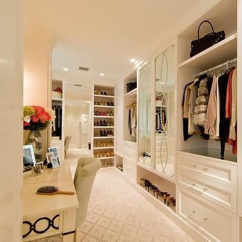 Make Up Vanity in Closet, Transitional, Closet, Sroka Design