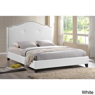Marsha Scalloped White Modern Bed, Overstock.com