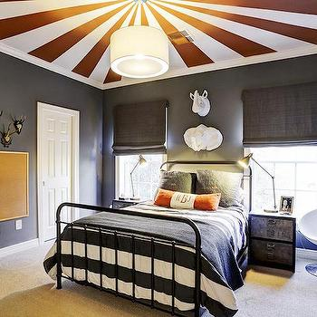 Circus Tent Ceiling, Transitional, Boy's Room, har